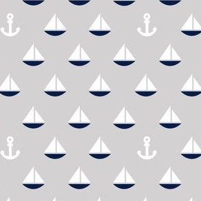 Little Navy Boats - Color Update