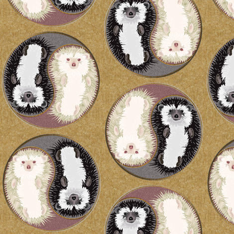 Yin Yang Hedgehogs fabric by eclectic_house on Spoonflower - custom fabric