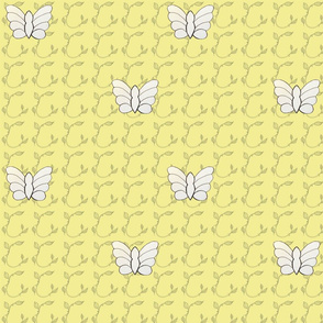 Butterflies in Pale Yellow