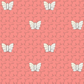 Butterflies on Pale Pink