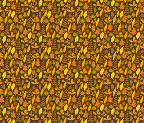 Autumn leaves  fabric by kostolom3000 on Spoonflower - custom fabric