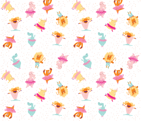 Beast Ballet fabric by tonia_dee on Spoonflower - custom fabric