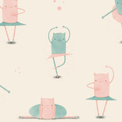 Quirky cat ballerinas
