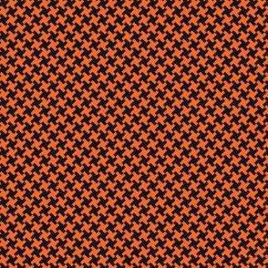 Houndstooth Black&Orange small