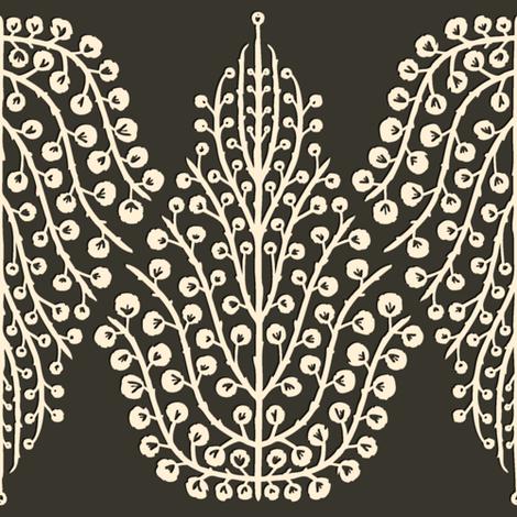 SPIRIT LINEAR truffle magnolia fabric by scrummy on Spoonflower - custom fabric