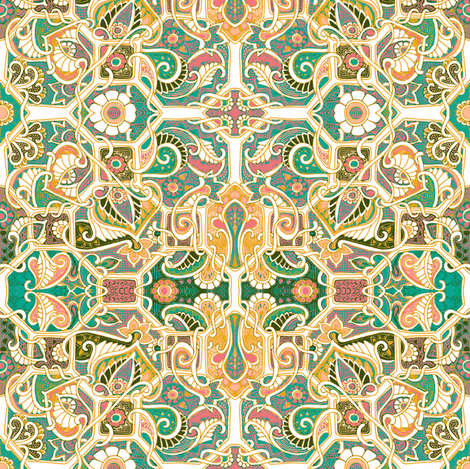 When Paisley Took Over the Garden   fabric by edsel2084 on Spoonflower - custom fabric