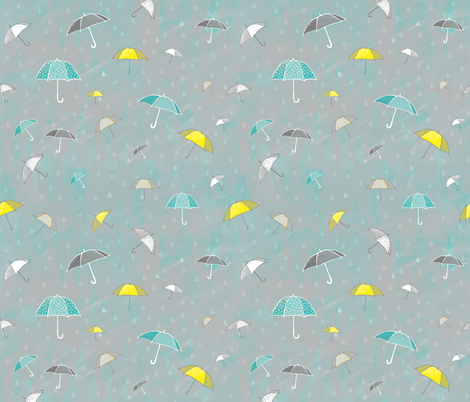 Kind Of Wish I Was Mary Poppins fabric by joyfulroots on Spoonflower - custom fabric