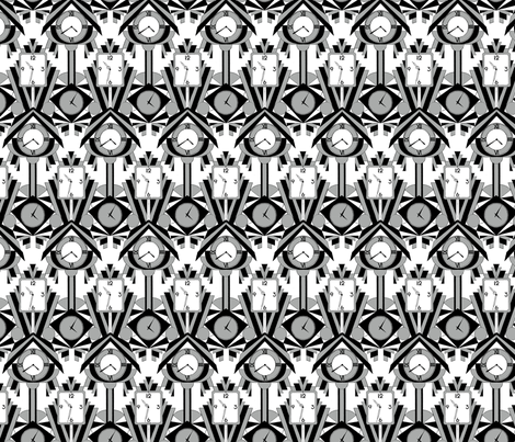 Deco Time fabric by alexaug on Spoonflower - custom fabric