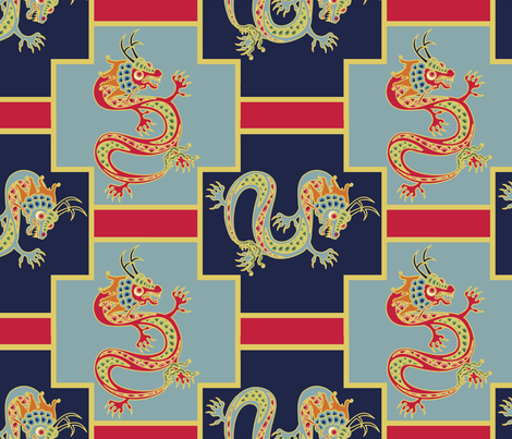 Year of the Dragon fabric by thirdhalfstudios on Spoonflower - custom fabric