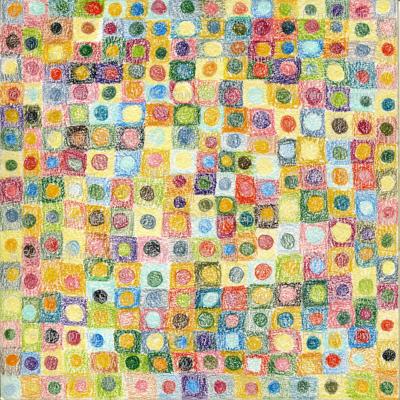 Colored Pencil Dots