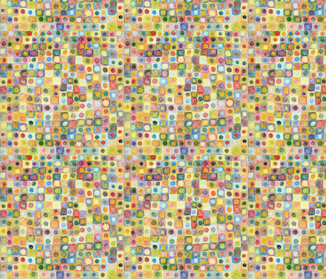 Colored Pencil Dots fabric by bad_penny on Spoonflower - custom fabric