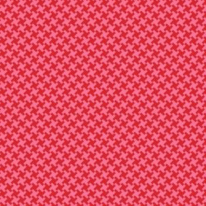 Houndstooth Red&Pink small