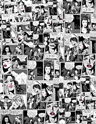 Comic Collage + red
