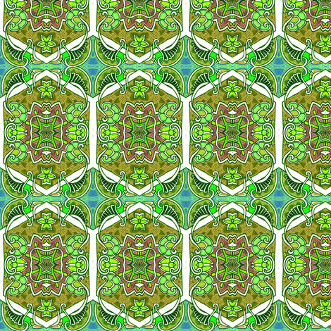 One Star Hexa Paisley Green fabric by edsel2084 on Spoonflower - custom fabric