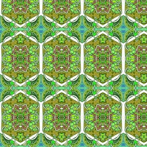 One Star Hexa Paisley Green