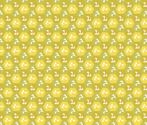 yellowDeco fabric by craige on Spoonflower - custom fabric