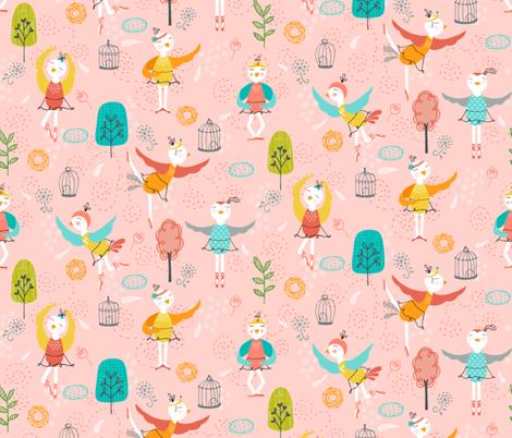 Tweets & Twirls fabric by belinda_sigs on Spoonflower - custom fabric