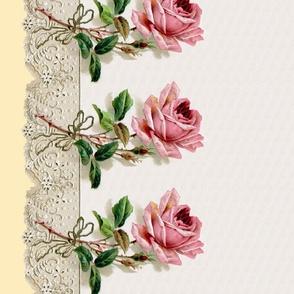Georgiana  ~ Rose Swag ~ Trianon Cream ~ Double Border