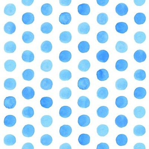 Watercolor Dots: Cobalt