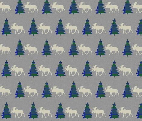 Spruce & Moose ©2014 Jill Bull fabric by palmrowprints on Spoonflower - custom fabric