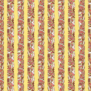 Meat Stripes on yellow back - small