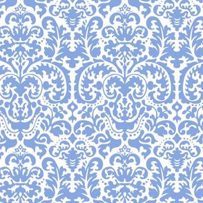 Anna Jacquard white/blue