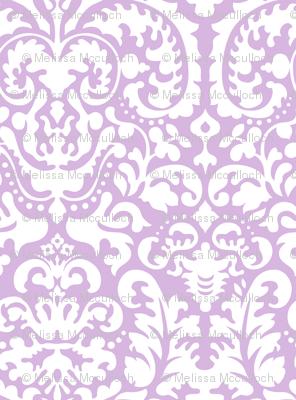 Anna Jacquard lavender/white