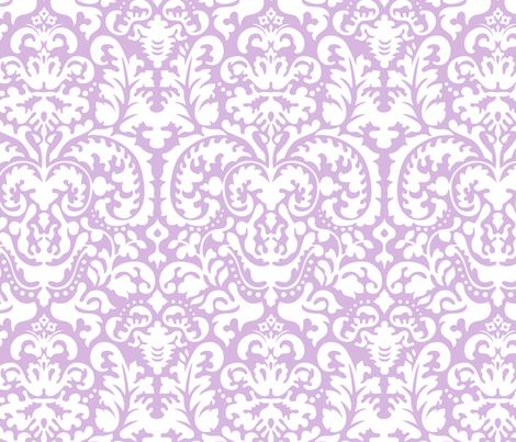 Anna Jacquard lavender/white fabric by minimiel on Spoonflower - custom fabric