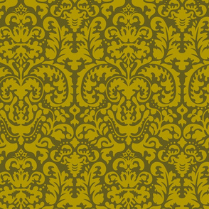 Anna Jacquard green/gold