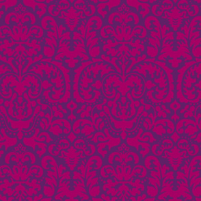 Anna Jacquard plum/raspberry