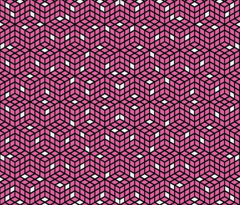 Pink Cubed fabric by whimzwhirled on Spoonflower - custom fabric