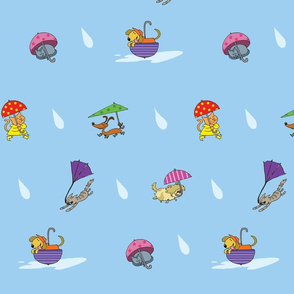 It's raining, cats and dogs!