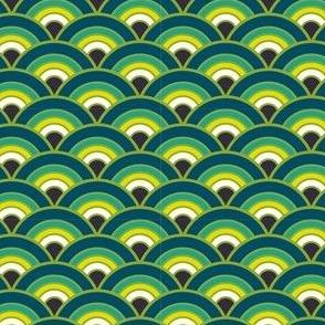 Energetic Scales Pattern - Peacock