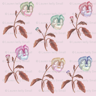 Pansy Meadow Soft Pink