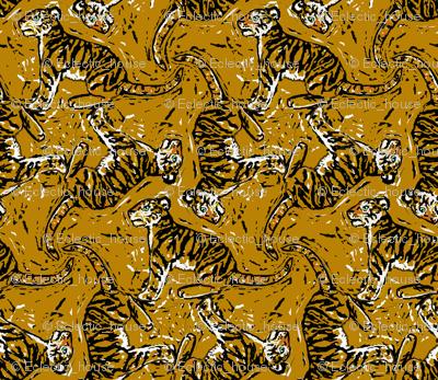 Wood Cut Tiger