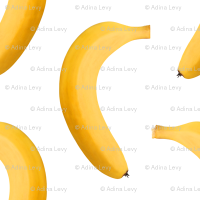 Banana Photo - Small Repeating Pattern