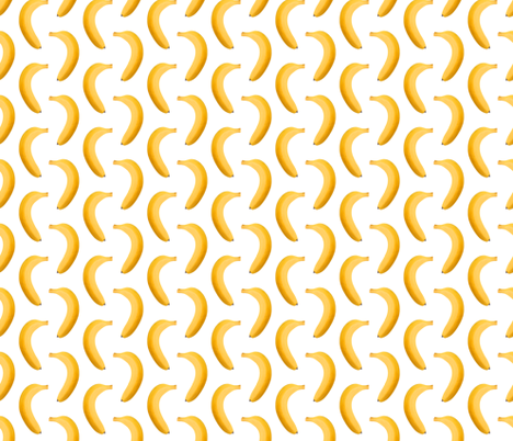 Banana Photo - Small Repeating Pattern fabric by thecumulusfactory on Spoonflower - custom fabric