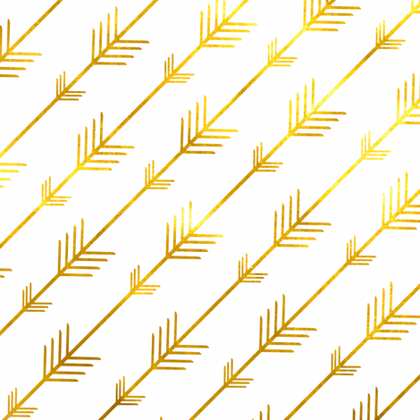 Gold Arrows Beaucoup! fabric by willowlanetextiles on Spoonflower - custom fabric