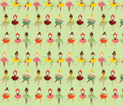Summer Dancers fabric by oliveandruby on Spoonflower - custom fabric