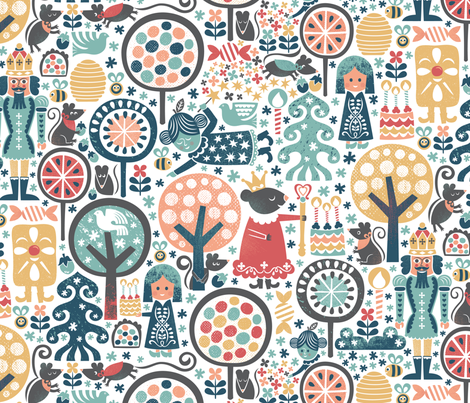 Nutcracker Winter Forest fabric by christinewitte on Spoonflower - custom fabric