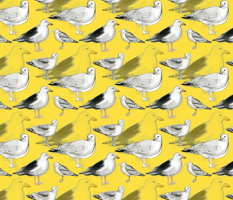 seagulls fabric by atlanticmoira on Spoonflower - custom fabric