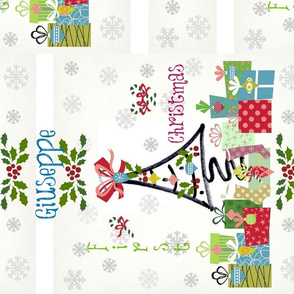 1st christmas 2 vertical blue- personalized
