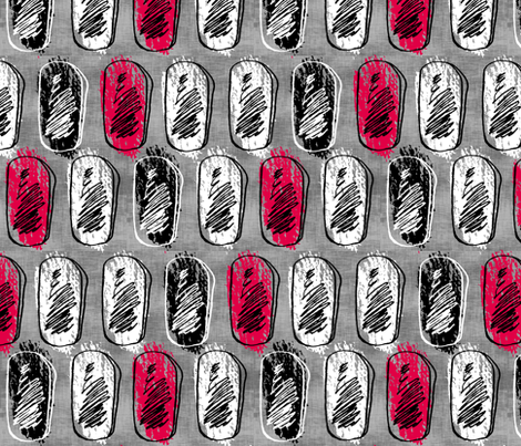 Abstract Stones Red fabric by pond_ripple on Spoonflower - custom fabric
