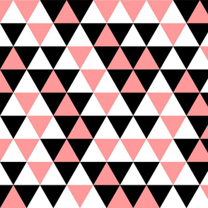 Triangles Coral Black White