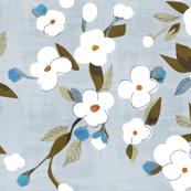 white flowers on danish sky