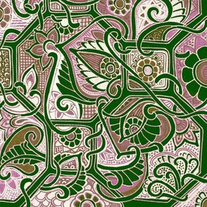 Big Bad Bold Geometric Garden Tangle