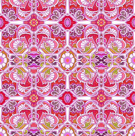 Little Red Flower Garden fabric by edsel2084 on Spoonflower - custom fabric