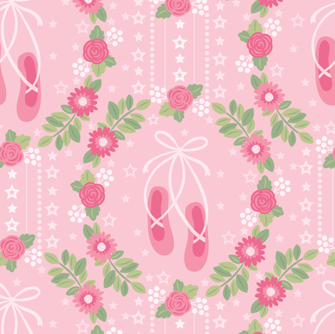 Ballet Slippers fabric by laura_mayes on Spoonflower - custom fabric