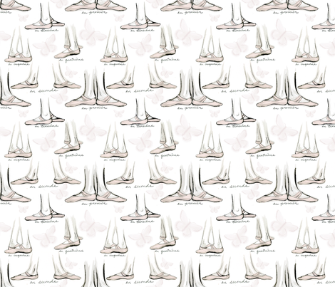 ballet fabric by atlanticmoira on Spoonflower - custom fabric