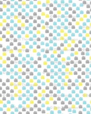 Painted Grid (Aqua Yellow Gray)